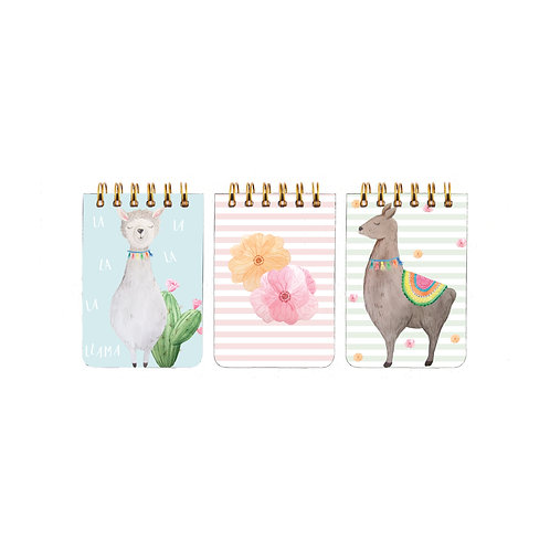 Llama Note Pads- Set of 3