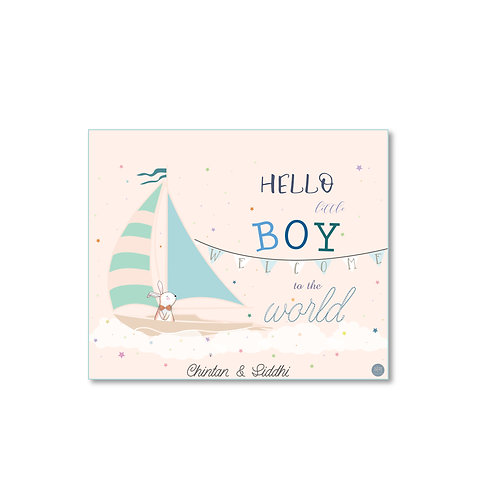 It's a Boy - Birth Announcement Card