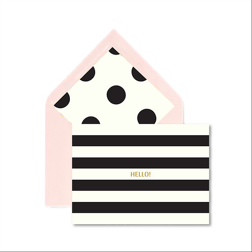 Striped Hello Notecard Set