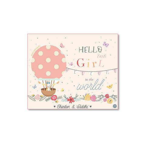 It's a Girl - Birth Announcement Card