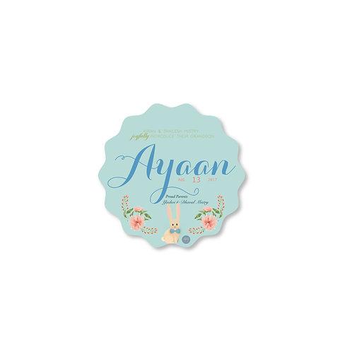 Joy - Birth Announcement Card
