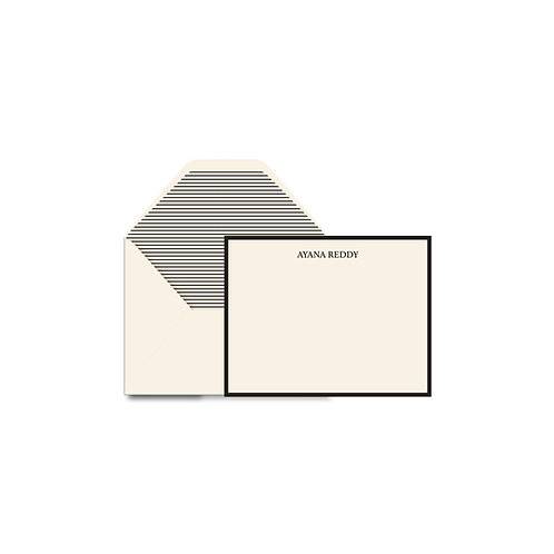 Monochrome Personalized Flat Notes
