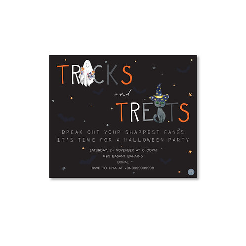 Trick or Treat - Halloween Invite
