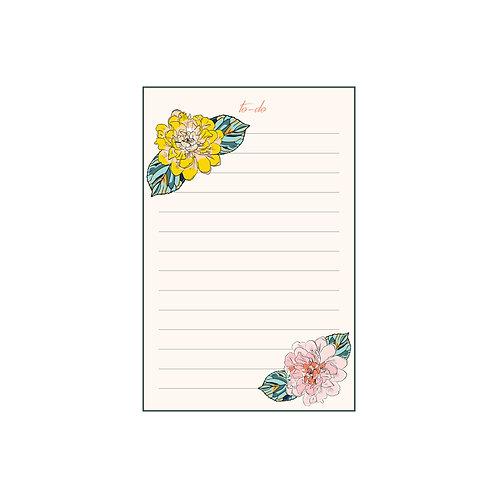 Brush Florals Tearoff Notepad