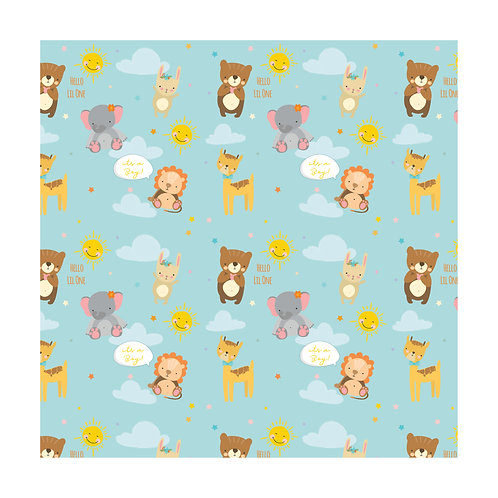 Baby Boy Gift Wrapping Paper