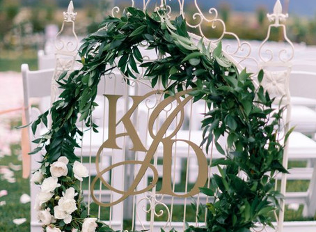 7 Unique Ways of Using your Wedding Monogram for your Wedding Celebrations