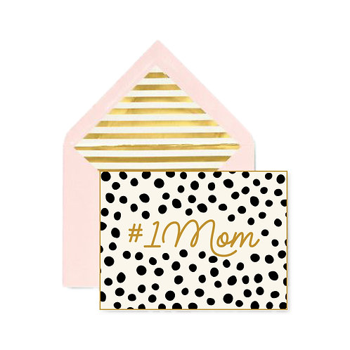 #1Mom Mother's Day Notecard