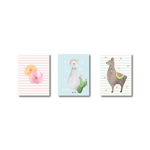 Llama Travel Size Sketch pads - Set of 3