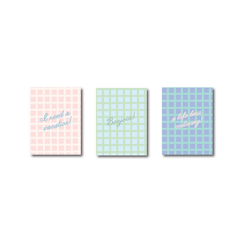 Pretty Chequered Travel Size Sketch pads