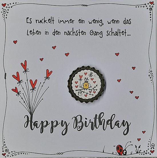 Karte Happy Birthday mit Magnet E5 Erwin