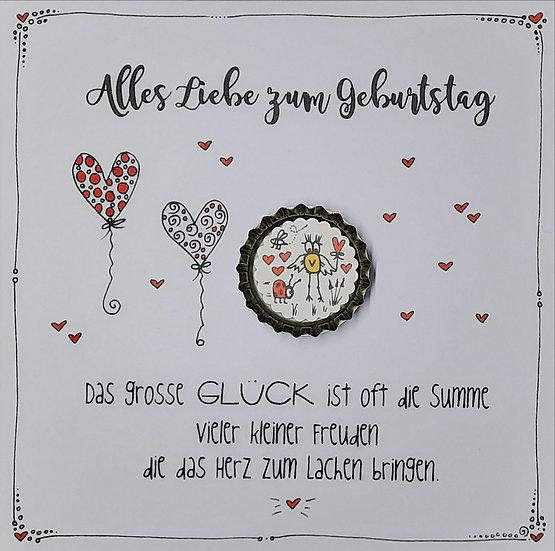 Karte Alles Liebe zum Geburtstag mit Magnet V4 Valo