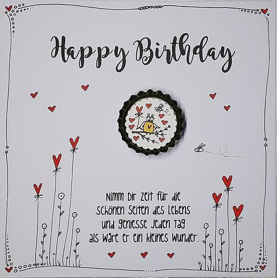 Karte Happy Birthday mit Magnet E4 Ella