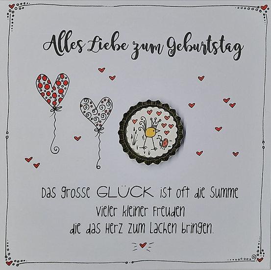Karte Alles Liebe zum Geburtstag mit Magnet VK1 Kamilla