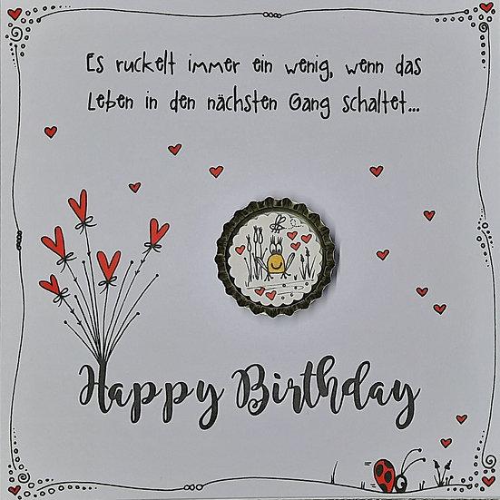 Karte Happy Birthday mit Magnet F5 Franz