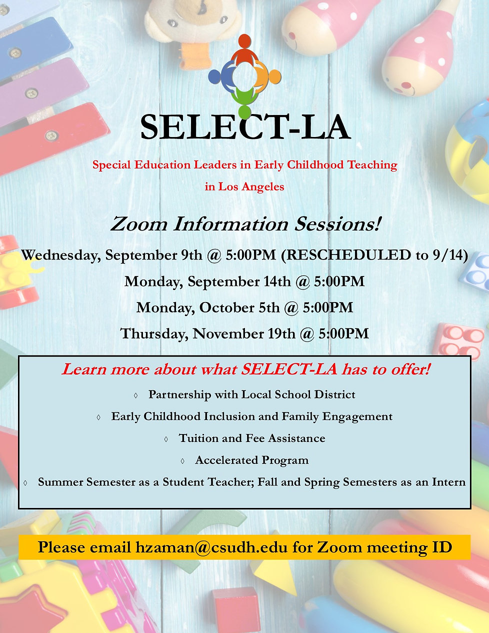 Zoom Information Session (Updated 2020 0