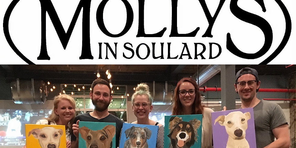 SOLD OUT Paint Your Pet at Molly's in Soulard - Dogs invited!