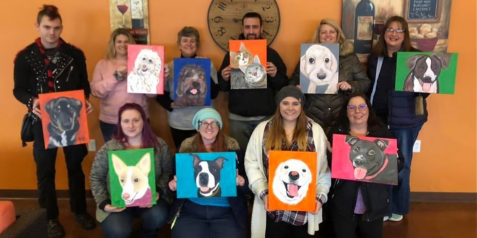 Paint Your Pet at Grafton Winery the Vineyards