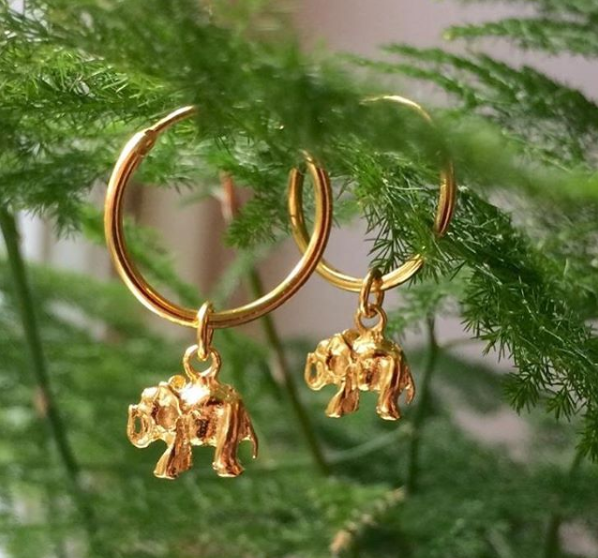 3. A Pair of Gold Plated Hoops
