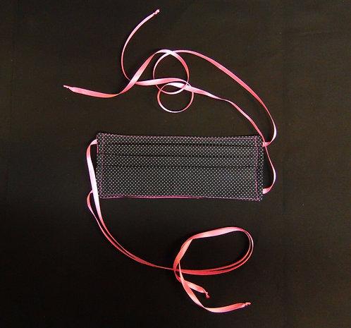 100% COTTON USA ADULT Designer Custom Fashion Face Mask Polka Dots Reversible