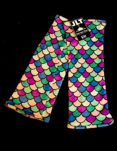 "Multi-Color Micro Fleece Mermaid Leg Warmers 16"" Long"