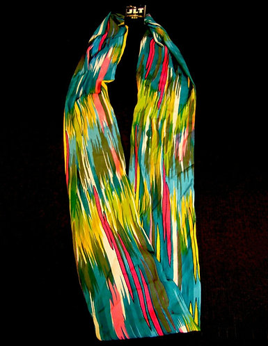 """Chiffon Blend Multi-Color Infinity Scarf 69"""""""