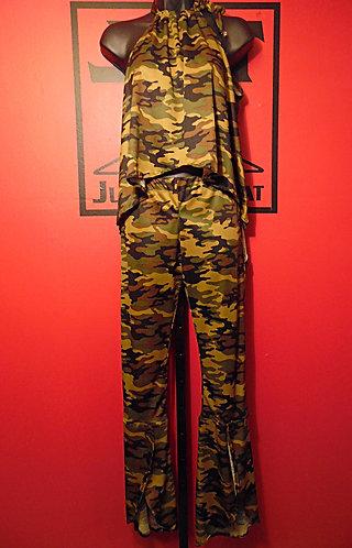 Queen Bee Pants Suit - Camo