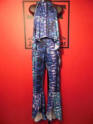 Queen Bee Pants Suit - Purple Tie-Dye