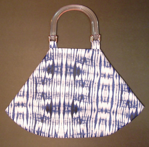 Fashion HandBag - White Tie-Dye