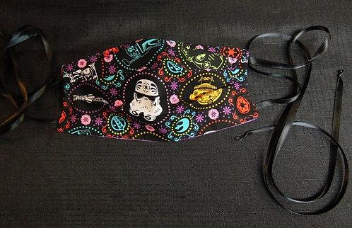 100% COTTON USA ADULT Designer Custom Fashion Face Mask Multi-Skull Reversible