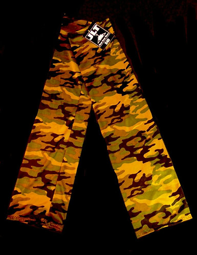 """Thigh High Army Camouflage Leg Warmers 26"""" Long"""