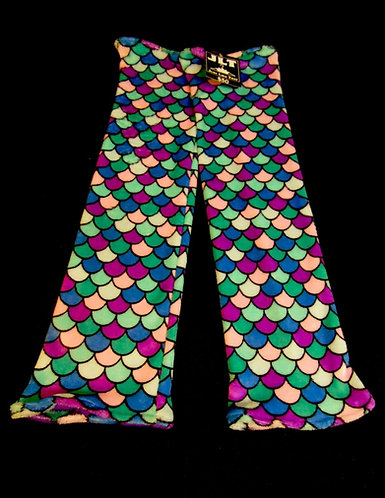 "Multi-Color Thigh High Mermaid Leg Warmers 26"" Long"