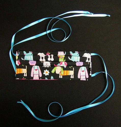 100% COTTON USA ADULT Designer Custom Fashion Face Mask Cats/Dogs Reversible