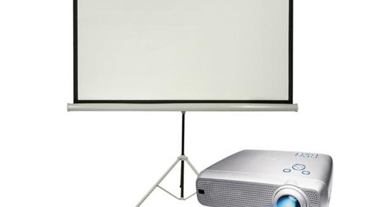 Basic projector and screen hire