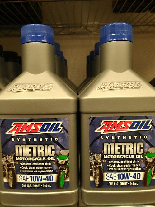 AMSOIL Metric Motorcycle Oil SAE 10W-40