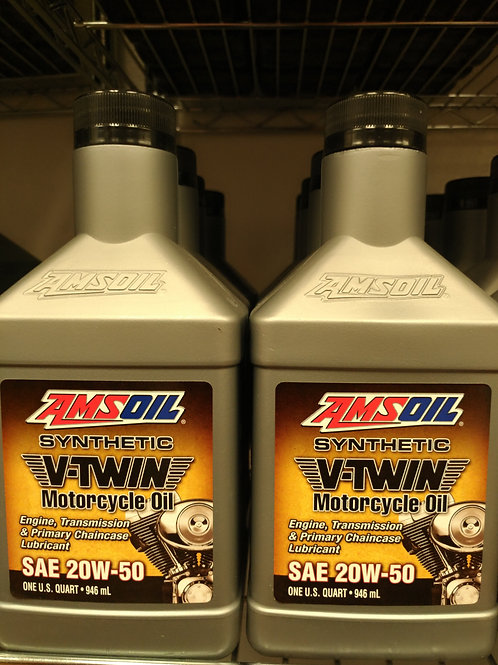 AMSOIL V-Twin Motorcycle Oil SAE 20W-50