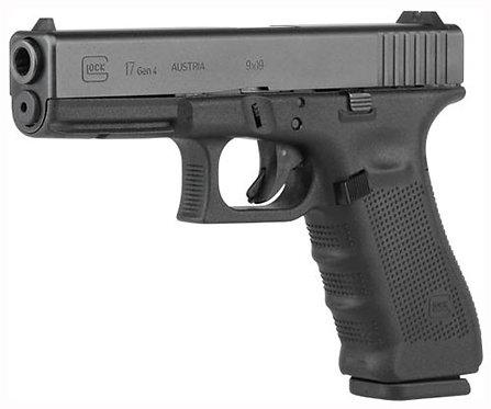 GLOCK 17 9MM GEN4 FIXED SIGHTS 17-SHOT BLACK