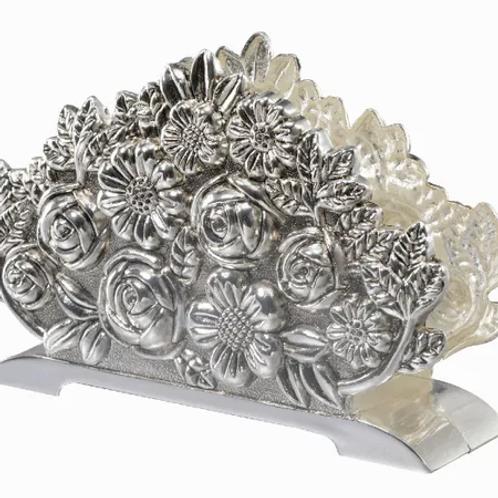 Silverplated napkin holder