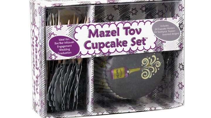 Mazal tov cupcake sæt