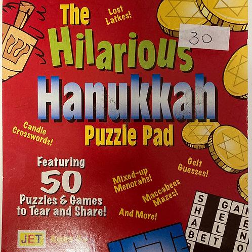 Chanukah puzzle pad