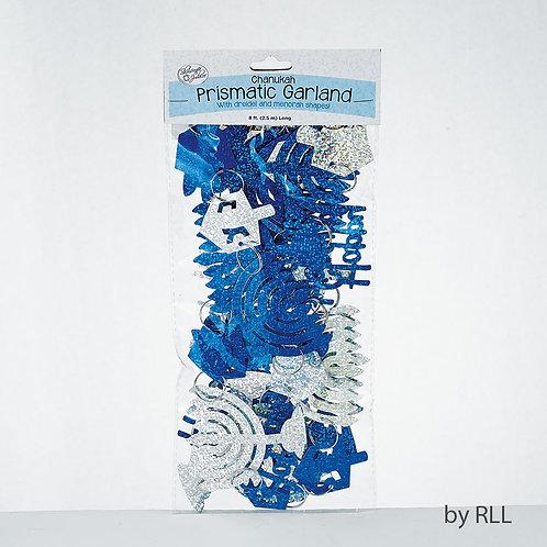 Chanuka blå og sølv garland