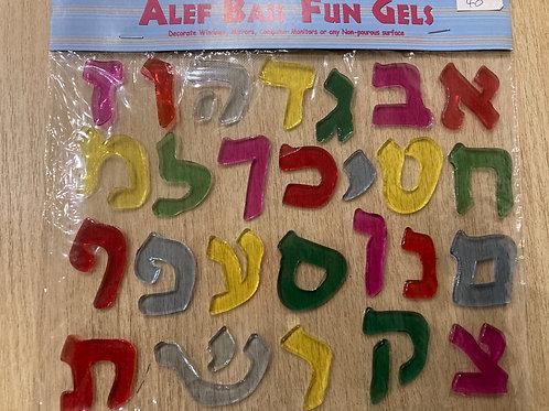 Window Gel Fun - Alef Bet