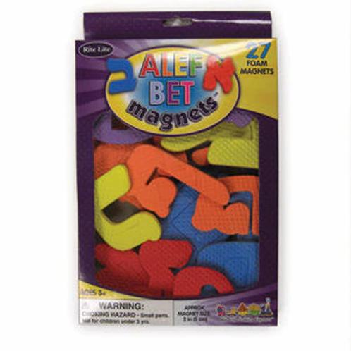 Alef Bet Foam Magnets