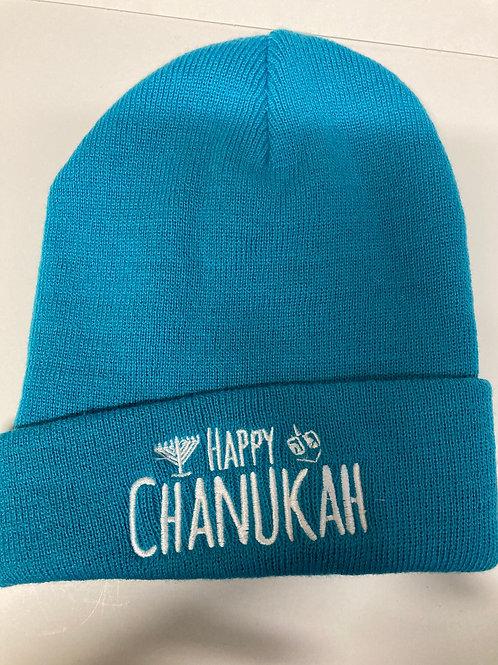 One size Chanukah hat Chanukah hue - blå