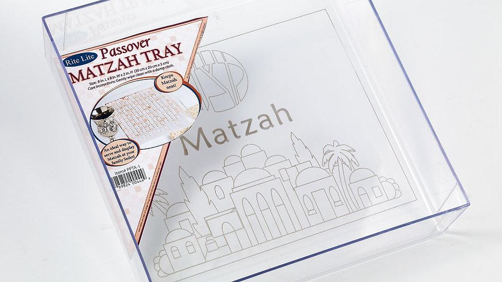 Acrylic matzah tray
