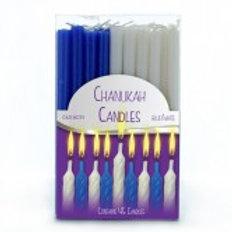 Chanuka lys hvid og blå