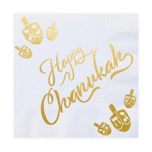 Chanukah Gold Foiled Napkin