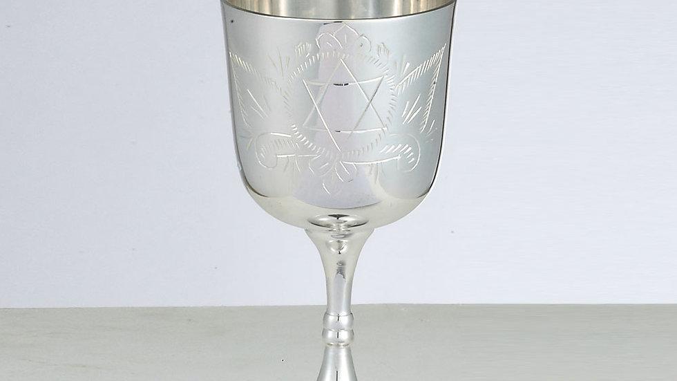 Silvertone kiddush cup