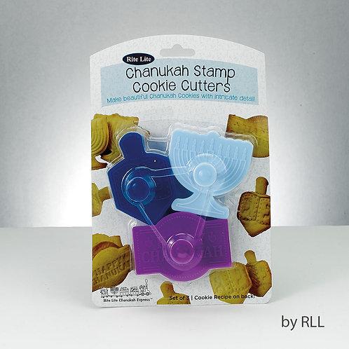 Chanukah stamp småkager form, 3 former