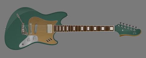 Rendering for PureSalem Reverberation | Futura Guitars
