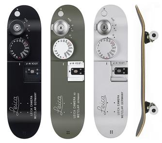 Leica M-P skateboard graphics, concept for Leica Cameras, 2016